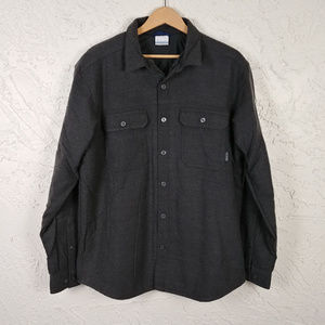 Columbia Thick Fleece Lined Flannel Shirt Jacket